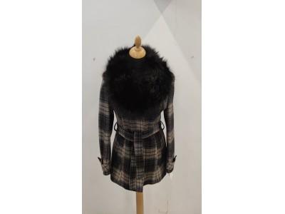 kabát káro s odpínací kožešinou 1938