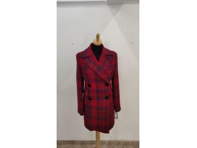 kabát káro 2003/red