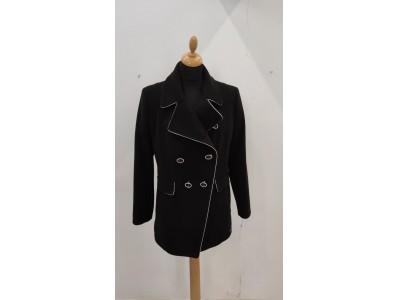 kabát s bílým lemem 2004/black