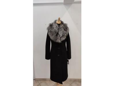 kabát dlouhý+kožešina 2009/black