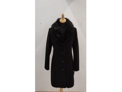 kabát s odpínací kožešinou 2011/black